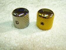 Metallknopf Potiknopf Reglerknopf chrom mit Marker massiv Metall für 6 mm Achse