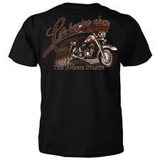 Life Begins When The Engine Starts Motorcycle T-shirt  -Triumph Harley BMW Honda
