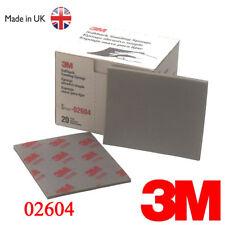 3M 2604 Fine Softback Sanding Sponge Sandpaper Paper Box Range 320#-400#