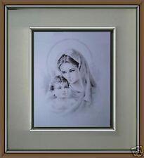 Capoletto Madonna Banbino lastra argento Carlo Parisi