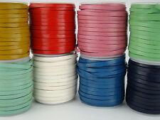 Lederband (ab 1,12€/m) Flach 4 x 1 mm. Lederriemen. Länge/Farbe: wählbar
