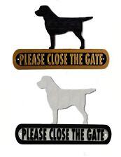 Labrador Please Close The Gate Silhouette Dog Plaque - House Garden Sign