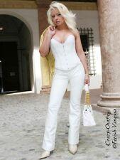 Lederhose Leder Hose Weiß Knalleng Größe 32 - 58 XS - XXXL