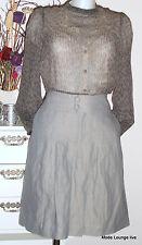 NOA NOA Rock PORTLAND Gr. M 38 LEINEN cotton grey melange grau Grau NEU Skirt