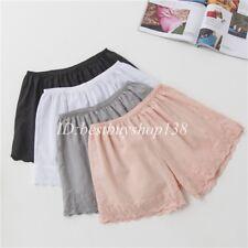 Women Cotton Slip Bloomers Petticpants Underwear Hot Shorts Lace details