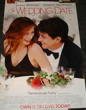 Wedding Date rolled Movie Promo Poster  Debra Messing Dermot Mulroney