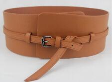 Women Ladies Fashion Super Wide Faux Leather Corset Waistband Belt (Black/Brown)