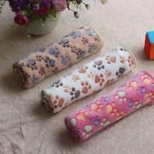 Cute Pet Small Blanket Puppy Kitten Warm Fleece Towel Paw Print Dog Soft new