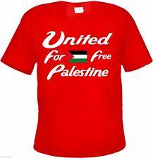 FREE PALESTINE T-Shirt - ROT - Text / Flagge - gaza westjordan palästina