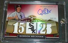 2011 TRIPLE THREADS GORDON BECKHAM on CARD AUTO JERSEY  64/99