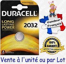 Piles DURACELL Lithium 3V : CR2032 DL2032 ( x 1 ou lot de 2 5 10 20 30 40 50 )