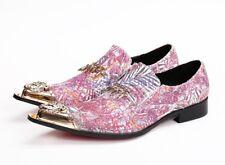 Wedding Mens Shoes Pumps Pointy Toe Formal Party Nightclub Decor Mental Dress