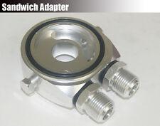 Aluminum Oil Filter Cooler Gauge Sandwich Plate Adapter Sender M20 AN-10 Silver