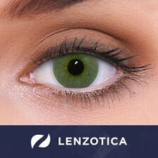 Farbige grüne Kontaktlinsen Platinum Green Mit und Ohne Stärke Natürlich wirkend