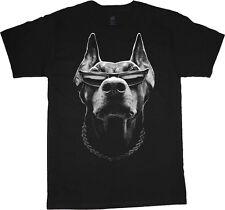 Men's t-shirt Doberman Pinscher gangster decal graphic tee shirt for men