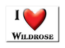 SOUVENIR USA - NORTH DAKOTA FRIDGE MAGNET I LOVE WILDROSE (WILLIAMS COUNTY)