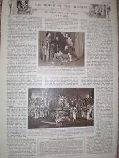 Printed photo Bizet opera The Pearl Fishers Sadlers Wells Theatre London 1954