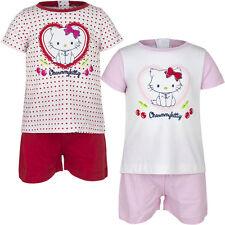 Court pyjama set pyjama fille Charmmy Kitty blanc rouge rose 67 74 81 86 #55