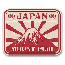 2 x 10cm Japan Mount Fuji Vinyl Sticker Travel Luggage Tag Label Laptop #6391