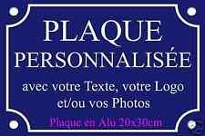 PLAQUE de RUE PERSONNALISÉE en ALU 20X30cm Photo/Logo..