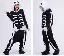 Unisex Adult Pajamas Kigurumi Cosplay Animal Onesie Sleepwear /Shoes Skeleton+
