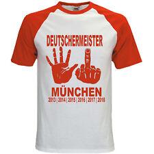 Deutscher Meister 2018 Bundesliga München T-Shirt Fussball Fanshirt Funshirt SIX