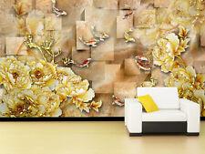 3D épais Fleurs 6 Photo Papier Peint en Autocollant Murale Plafond Chambre Art