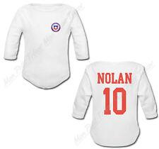 Body Bébé Football Maillot Chili personnalisé avec prénom et numéro au dos