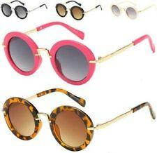 7a6f5e9d01 Diseñador Redondo NIÑOS Gafas de Sol Infantil Negro Retro Rosa Vintage UV400