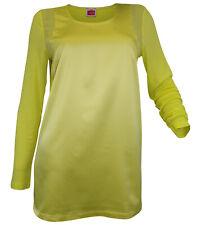 Travel Couture Heine Parche Camiseta Blusa Camisa Túnica Manga Larga Limón