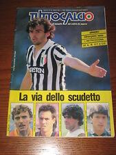 TUTTOCALCIO 1986/10 LA VIA DELLO SCUDETTO MICHEL PLATINI PAOLO ROSSI EMPOLI