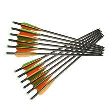 12Pk Archery crossbow arrows Od 8.8mm mixed carbon fiber crossbow bolts arrows