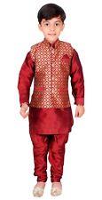 Boys Kurta Pajama Waistcoat Maharaja Style Bollywood Party Fancy Dress EB 947