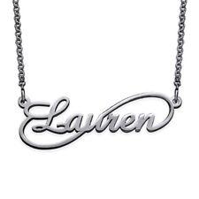 Collana con nome argento 925 Infinito rodiato anallergico  donna regalo gioielli