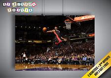 Poster James Lebron basket