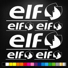 ELF 6 Stickers Autocollants Adhésifs Auto Moto Voiture Sponsor Marques
