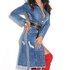 Alina Damenjacke Jeans Mantel gefütterte Winterjacke Jeansjacke 34-38 #C571