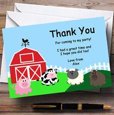 """""""Barnyard"""" animaux de ferme Personnalisé Fête D'Anniversaire cartes remerciement"""