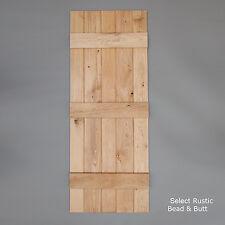 Bead & Butt - Solid Oak Internal Ledged Door - Cottage Door by Heritage