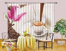 3D Milk Coffee 53 Blockout Photo Curtain Curtains Drapes Fabric Window CA Lemon