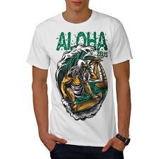 FLAMINGO Camicia di Sport Attivo Wellcoda Aloha Vacanza Da Uomo Canotta