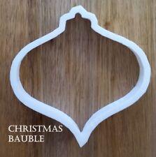 Christmas Bauble Cookie Cutter Dough Pastry Fondant Stencil Silhouette Xmas XM8