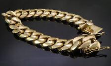Men's Yellow Gold 316 Stainless Steel Hip Hop Cuban Link Bracelet