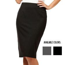 Ladies SANDY BEACH Black Pencil Skirt Size S, M, L & XL ~NEW ~ MBC