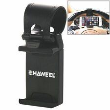 HAWEEL Universal Car Steering Wheel Phone Mount Holder for iPhone 7 6 Plus 5 LG