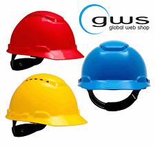 3M H700 Sicherheitshelm Pinnlock Arbeitsschutz, rot gelb blau, Kopfschutz