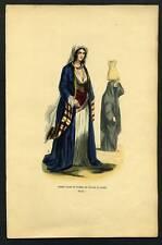 EGYPTE FEMMES DU CAIRE  lithographie du 19eme siecle