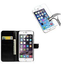 Pour Iphone 6 / 6S 4.7' - Pack Etui Coque Housse portefeuille + verre trempé