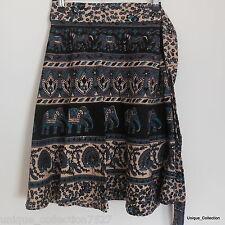UC-58 100% Cotton Jayapuri Printed Hippi Boho Tie Dyed Mini Skirts Wrappers