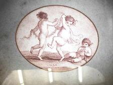 PUTTI.Litografia originale XIX secolo stampata in seppia.